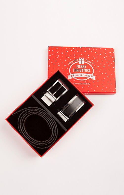 Coffret cadeaux ceinture réversible
