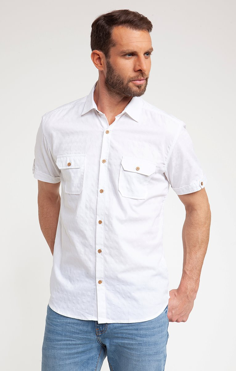 Chemise casual unie WHITY