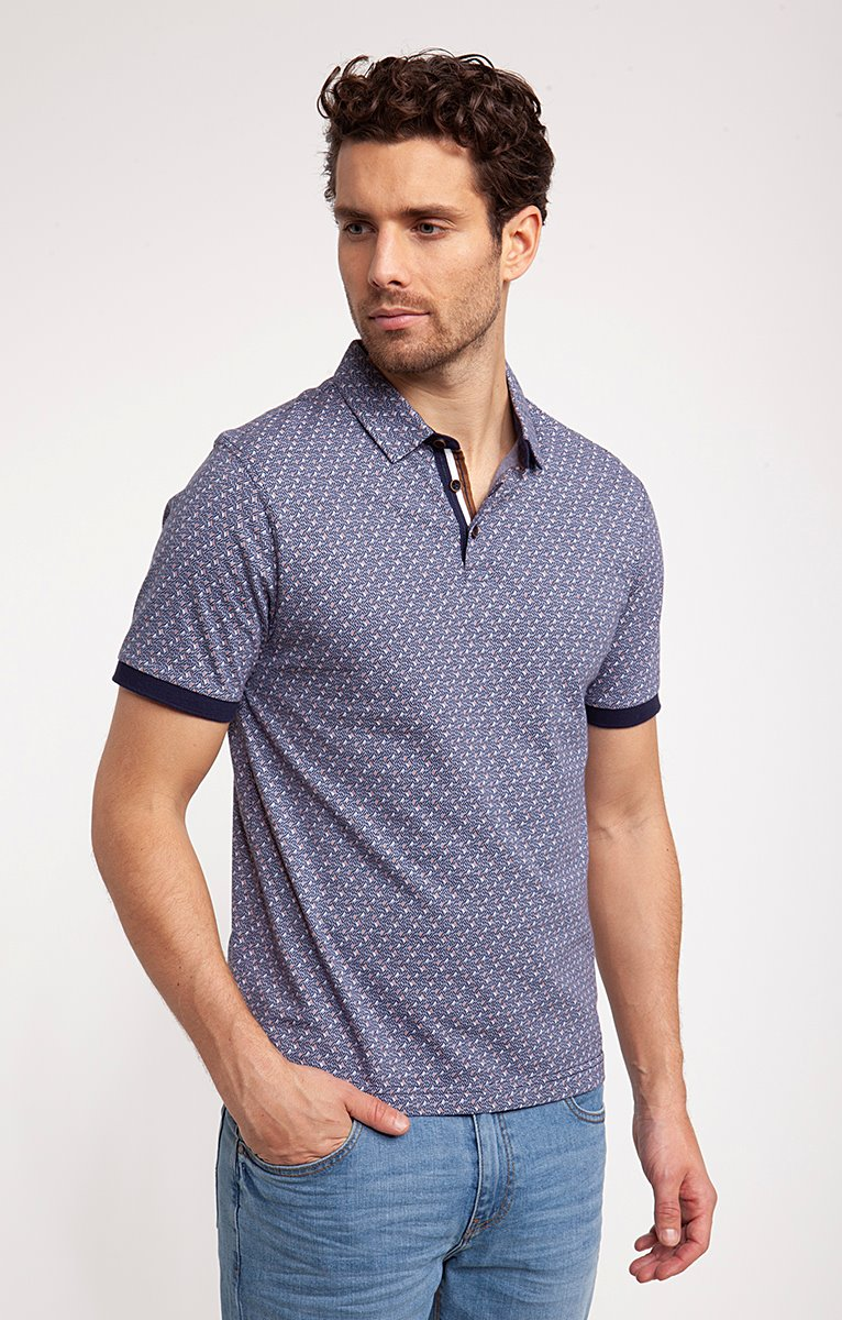 Polo manches courtes print fancy