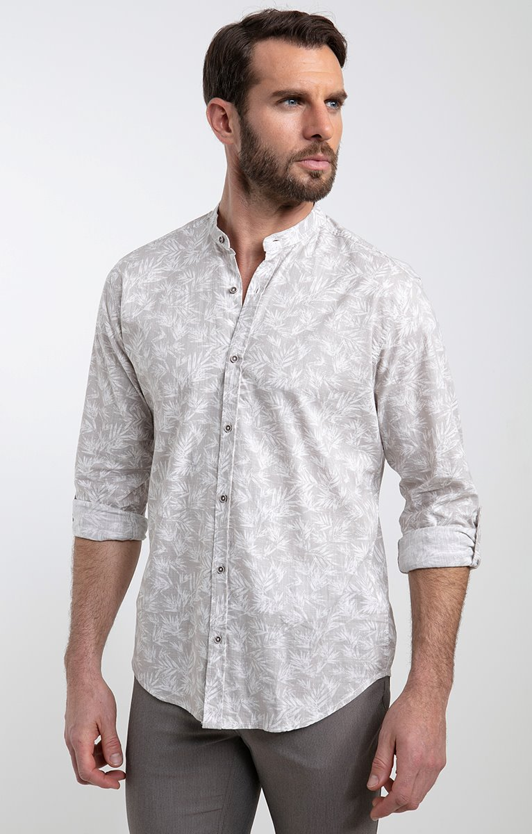 Chemise Effet Lin motif CANNY