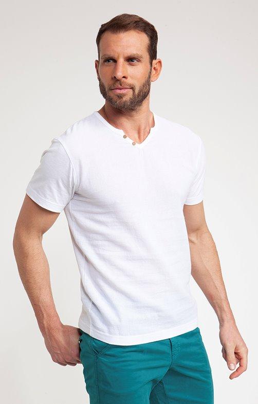 Tee shirt manches courtes blanco