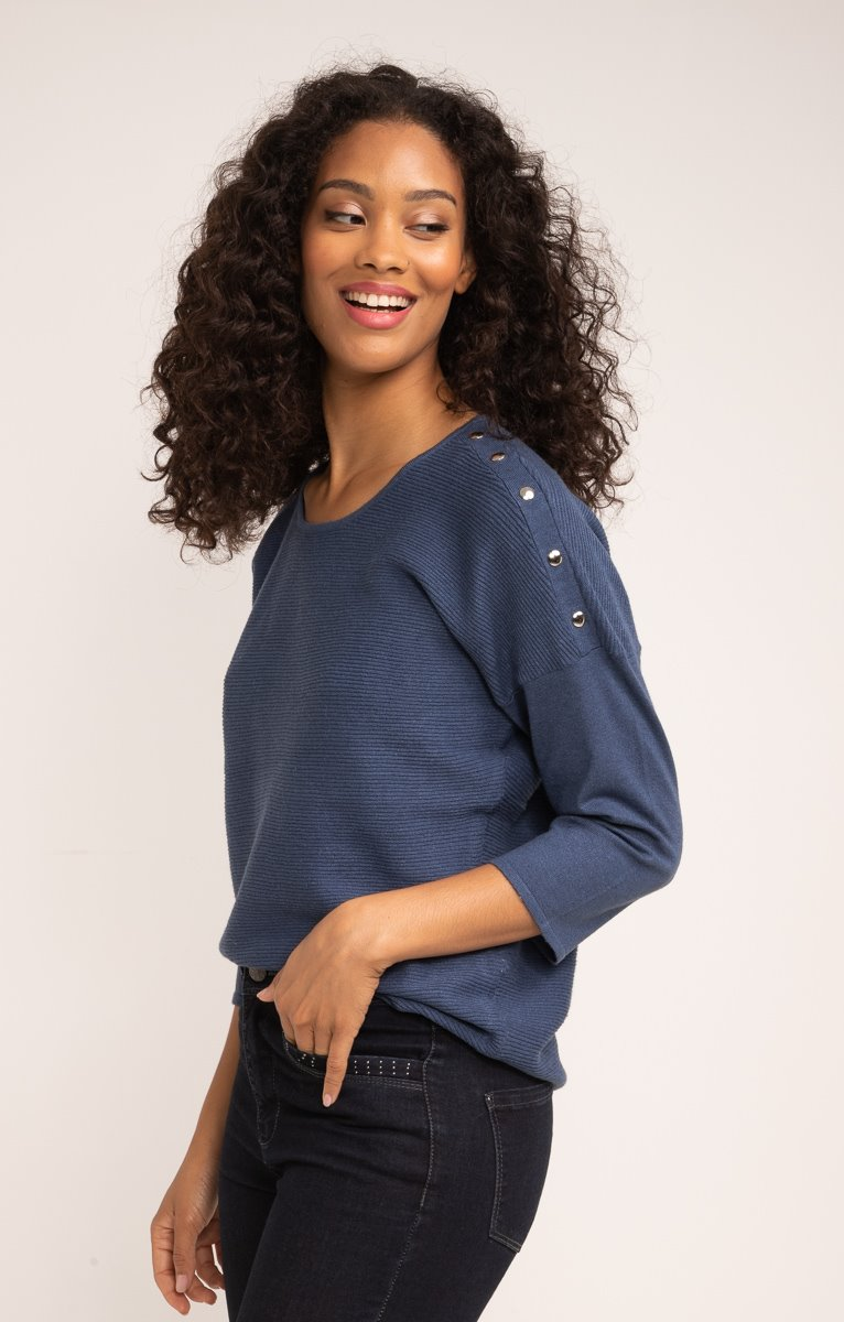 PULL LOW ARMHOLE TRICOTAGE FANTAISIE