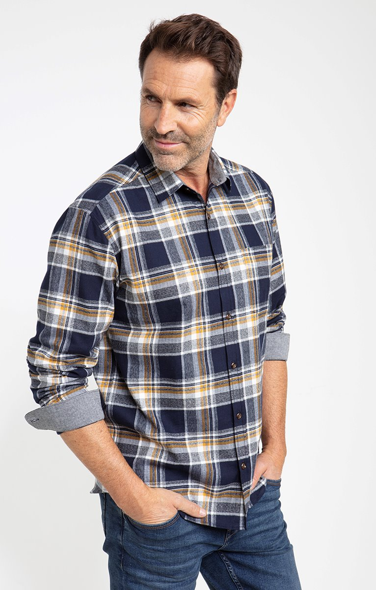 chemise flanelle grey