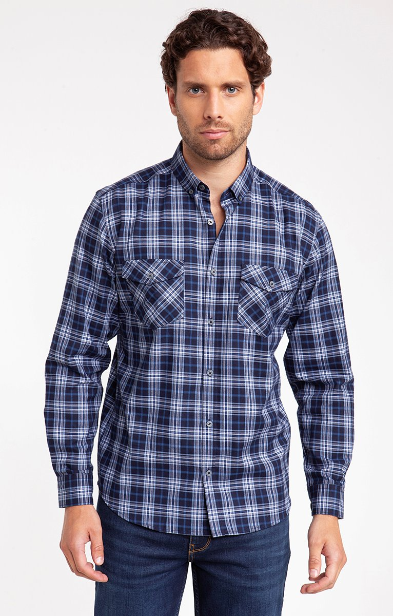 chemise flanelle blue