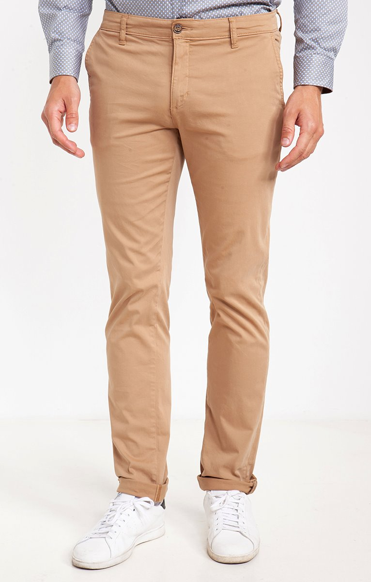 Pantalon chino couleur