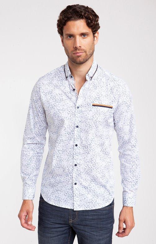 chemise casual motif grafo