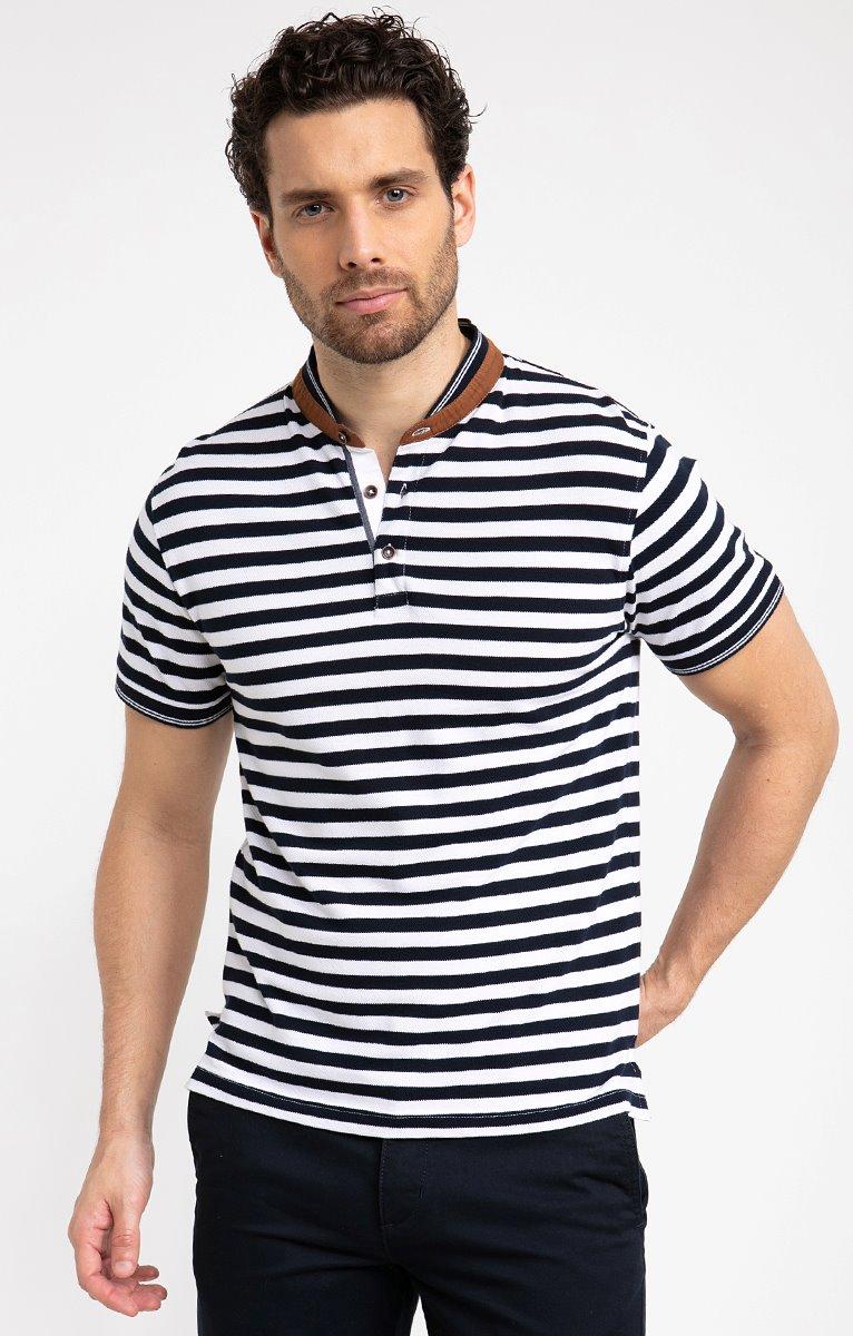 Tee shirt manches courtes mao stripes