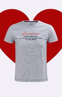 Tshirt à message Amoureux