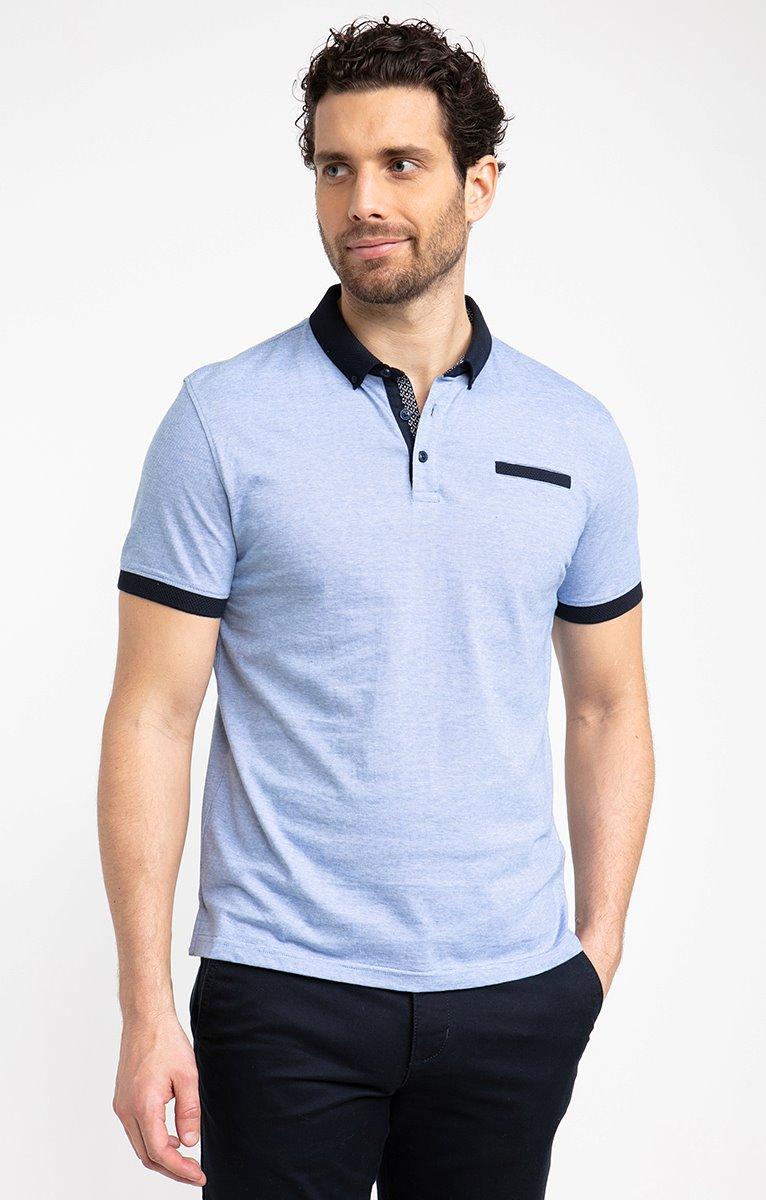 Polo manches courtes blue