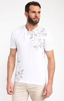 Tee shirt manches courtes feuille