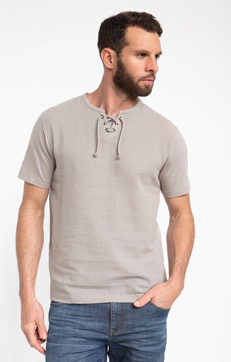 Tee shirt manches courtes medit lacet