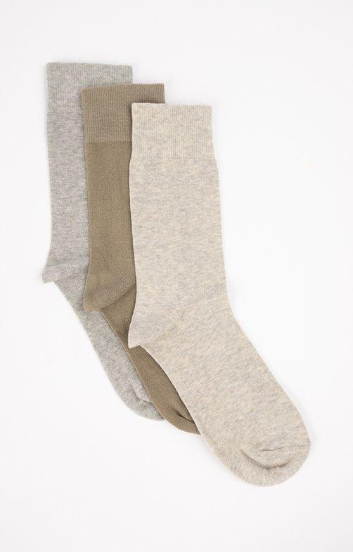 Chaussettes unies mix kaki