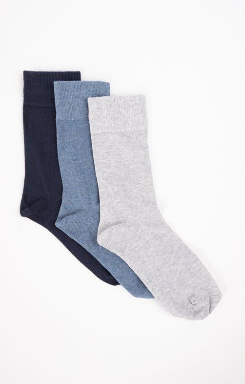 chaussettes unies mix bleu