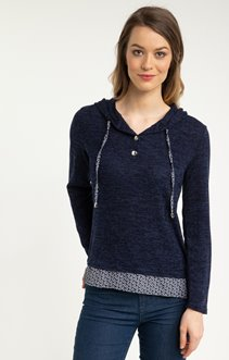 PULL CAPUCHE DETAILS CHAINE ET TRAME