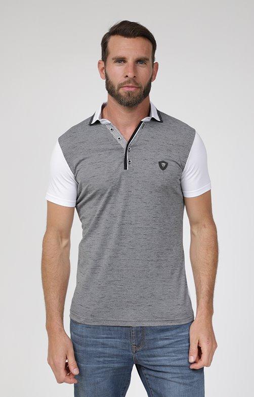 Polo manches courtes grey