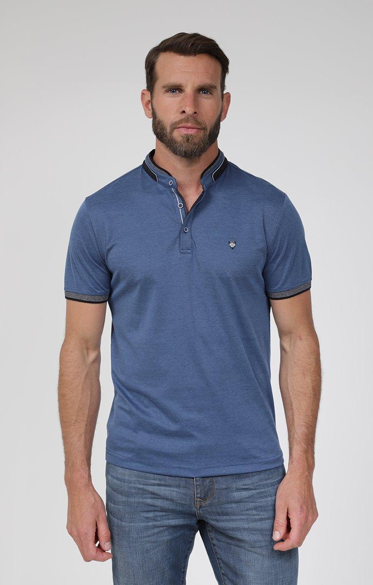 Tee shirt manches courtes indigo