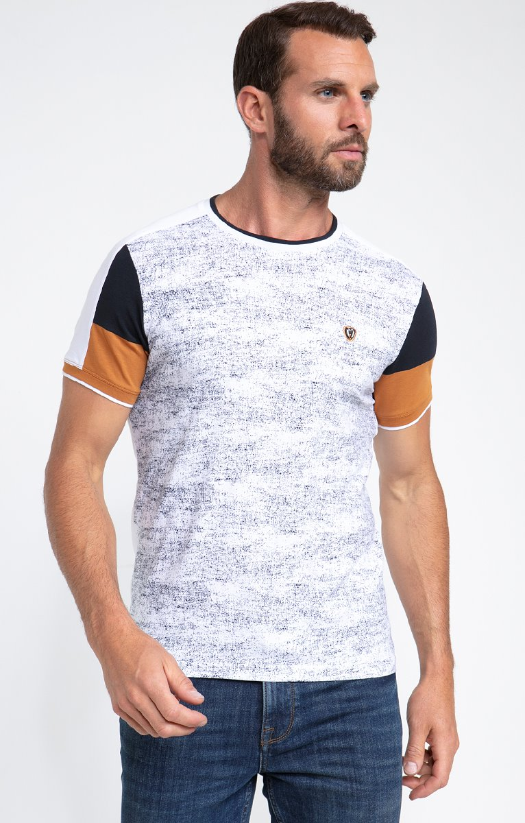 Tee shirt manches courtes marble