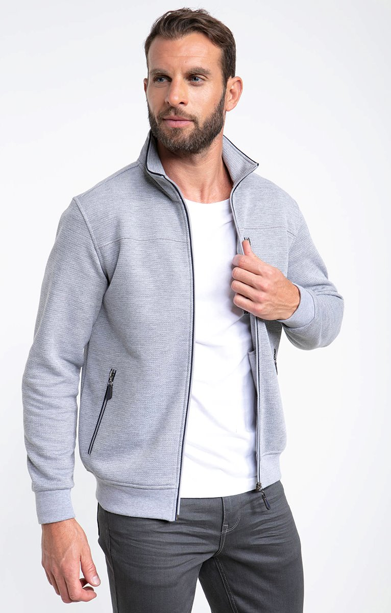 Gilet manches longues poches