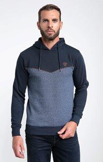 Sweatshirt à capuche piping
