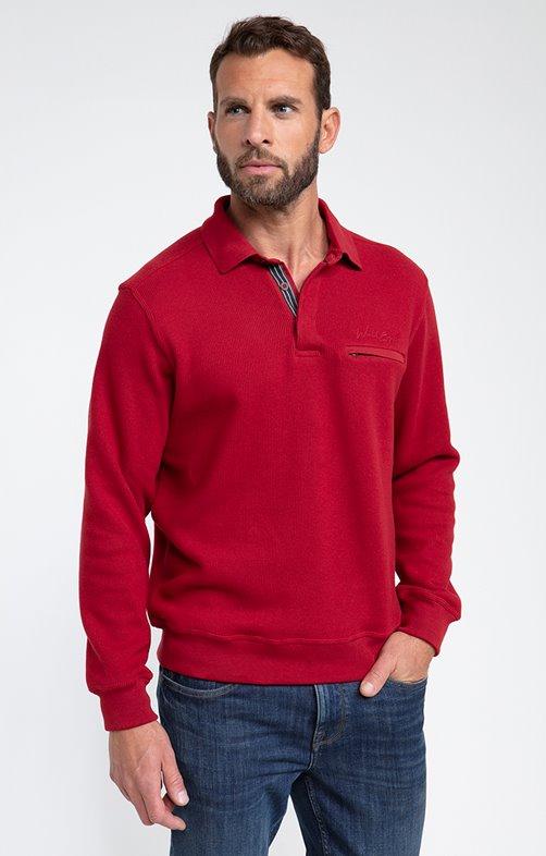 Polo manches longues pocket