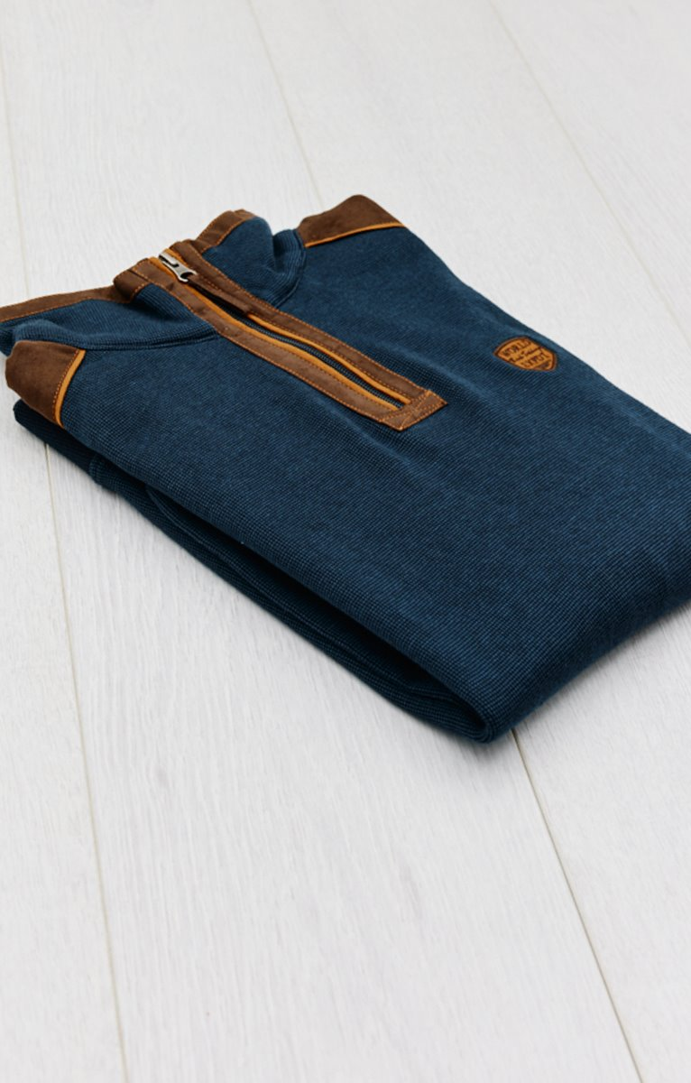 Polo manches longues col montant hood