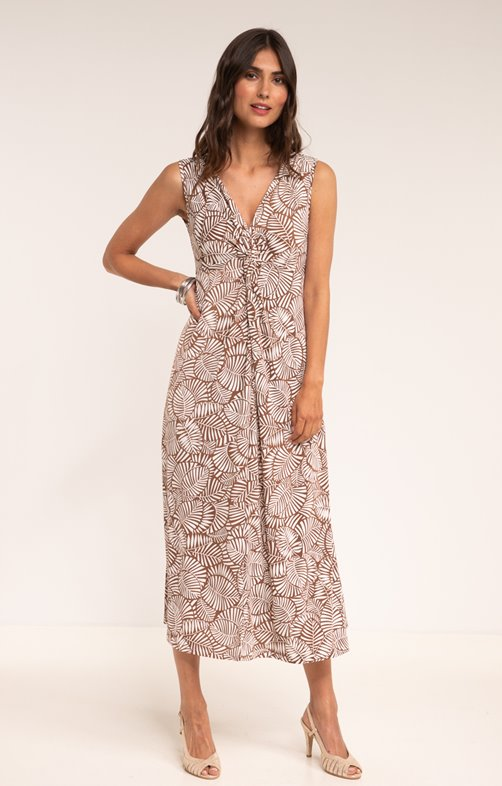 Robe maille maxi