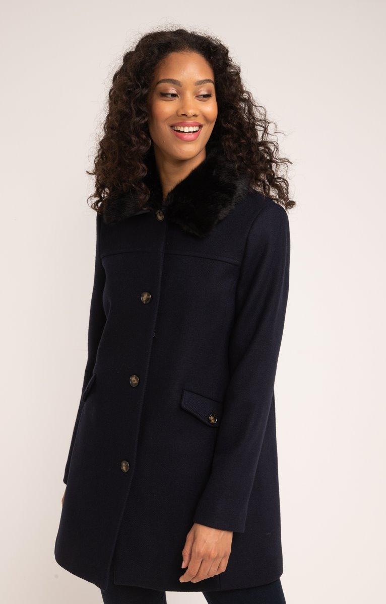 Manteau de ville boutonné