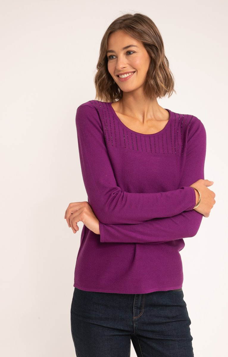 PULL TRICOTAGE LINKSLINKS AVEC STRASS