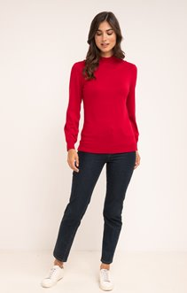 PULL COL MONTANT DETAILS BOUTONS EPAULES