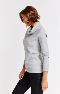 PULL COL BOULE POINTELLE PLACE