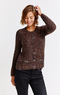 CARDIGAN FIL FANTAISIE BOUTON ALL OVER
