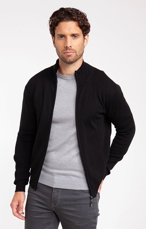 GILET WOOL COL MONTANT