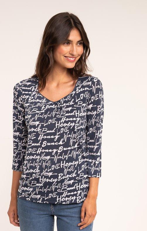 tee-shirt manches 3/4