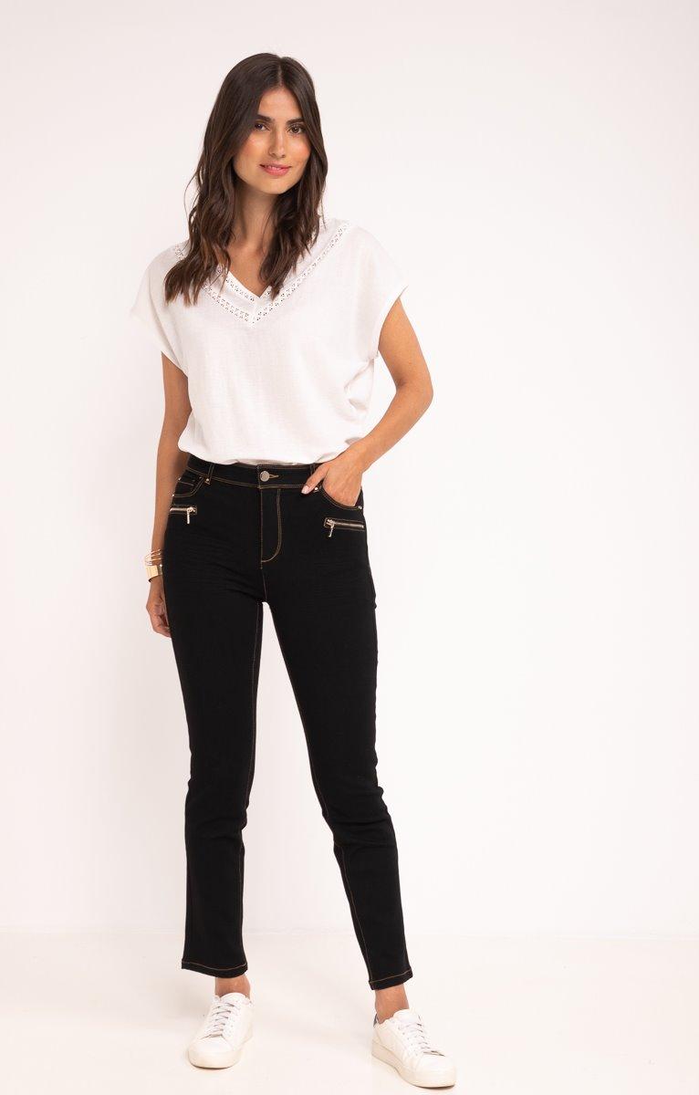 Pantalon 7/8ème Slim avec zip