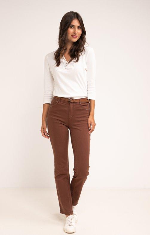 Pantalon avec strass et ceinture