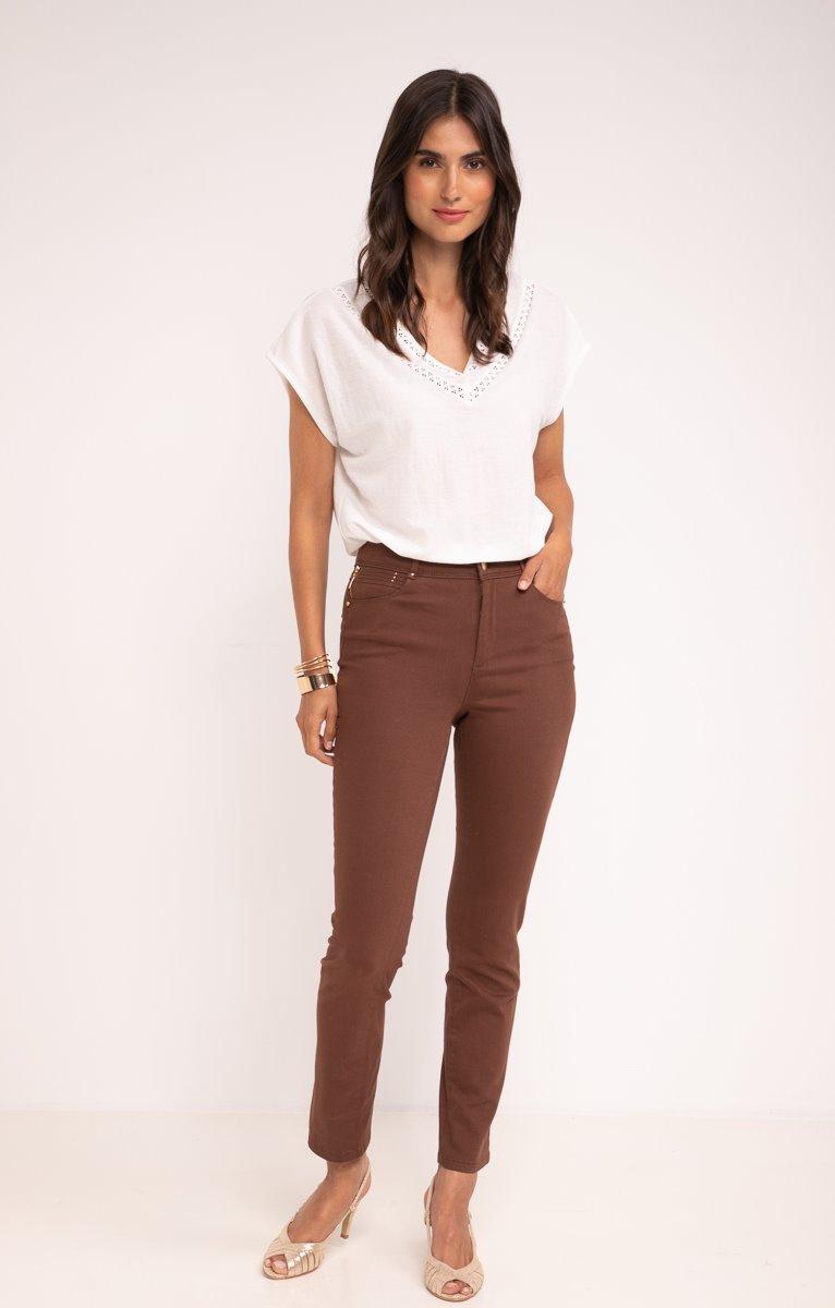 Slim en coton avec zip