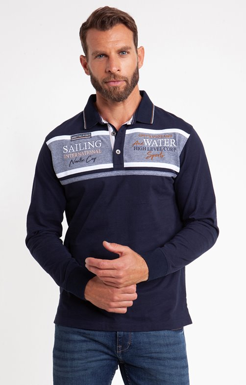 Polo manches longues moon