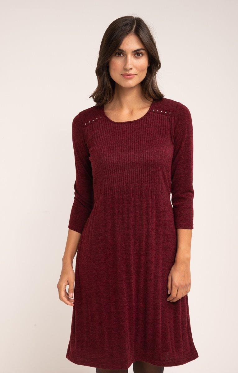 Robe maille tricot plissée