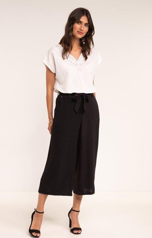 Pantalon forme jupe culotte