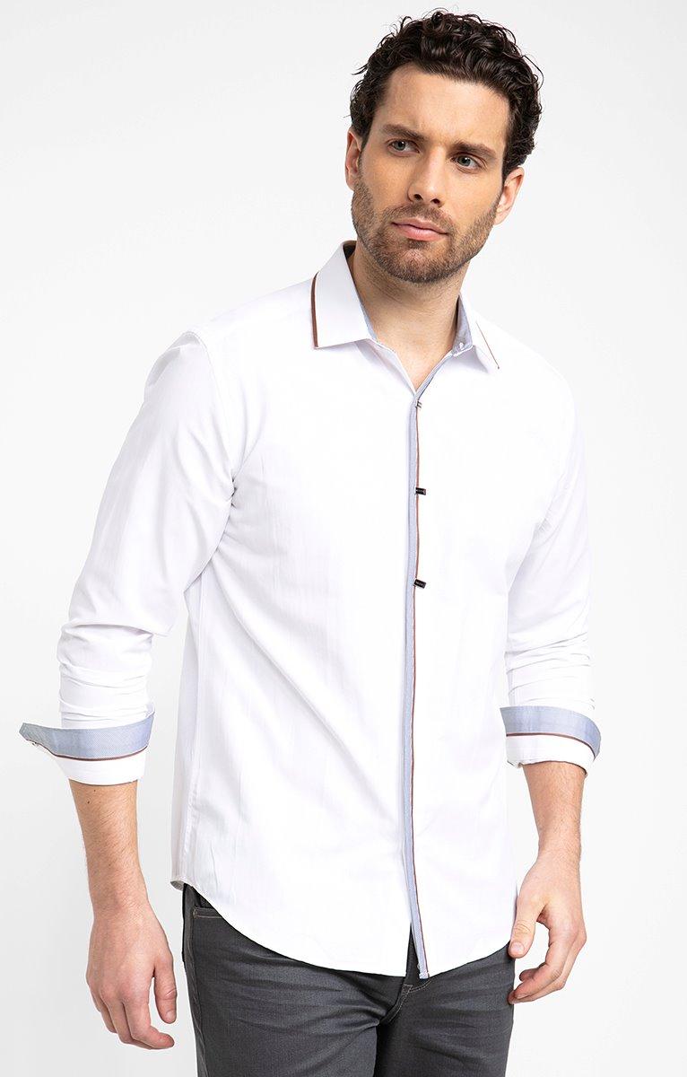 Chemise à détails grey