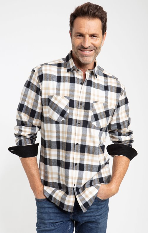 Chemise flanelle ecru