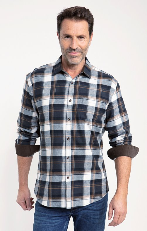 Chemise flanelle brown