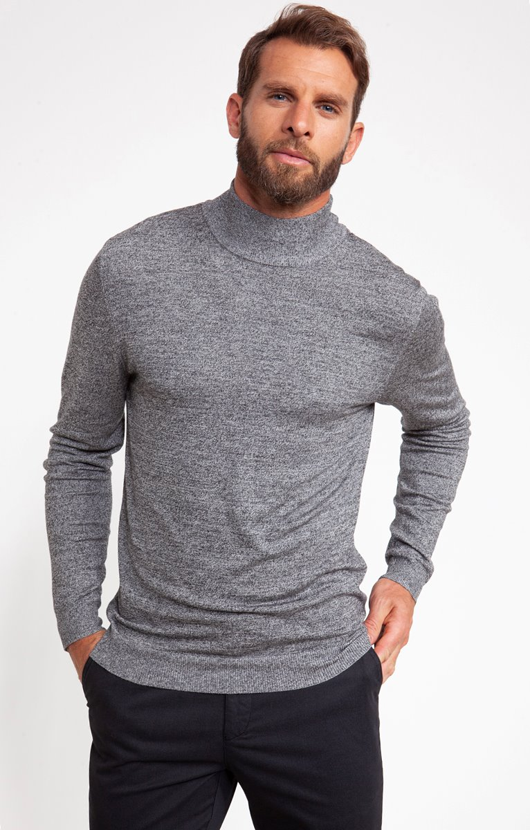 PULL MOUCHE COL MONTANT