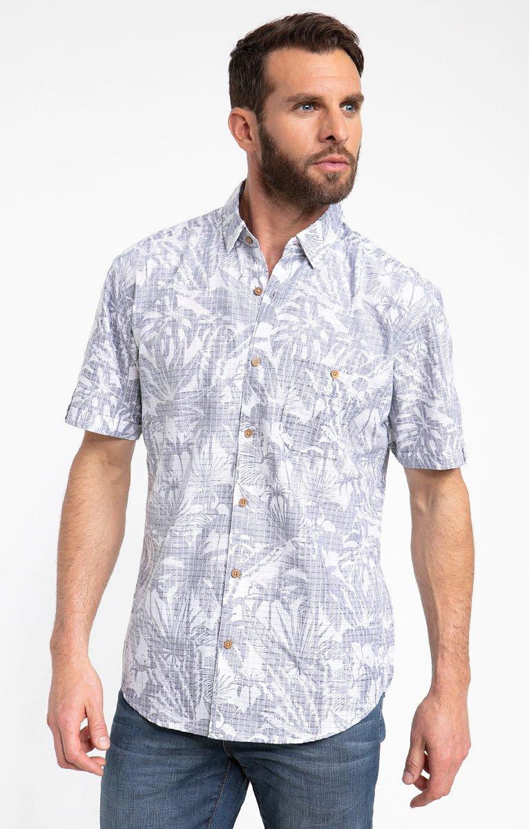 Chemise motif tropical