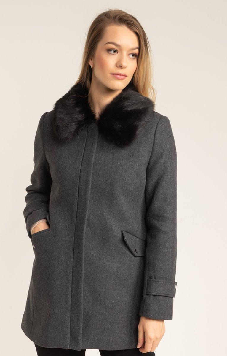 Manteau avec fourrure amovible
