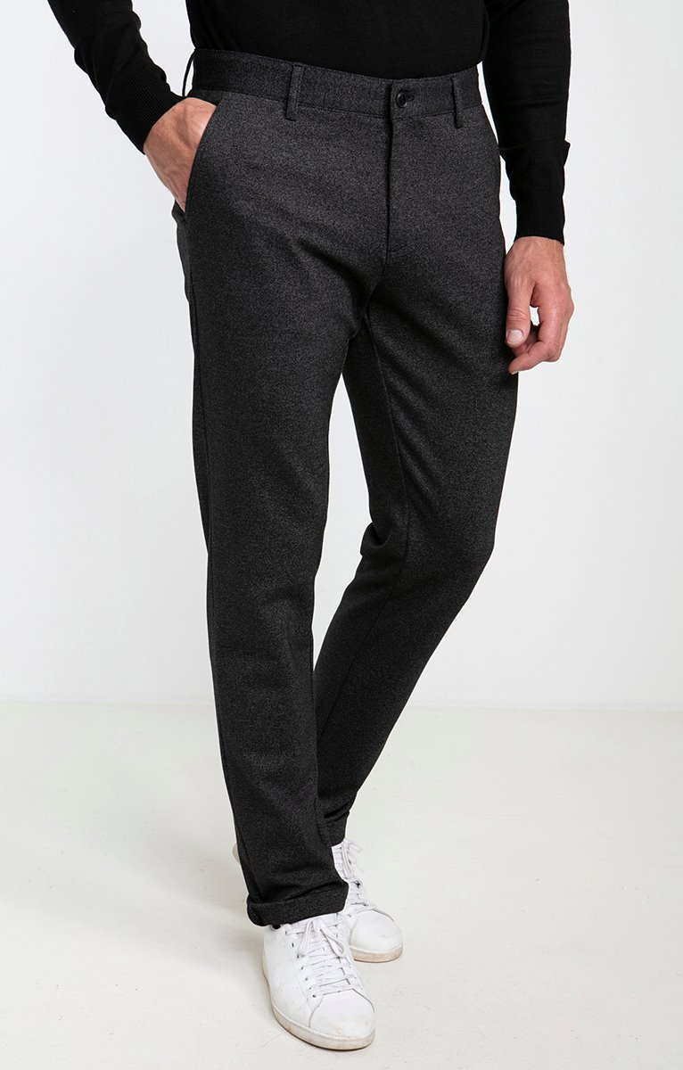 Pantalon chino maille Jog Mouliné
