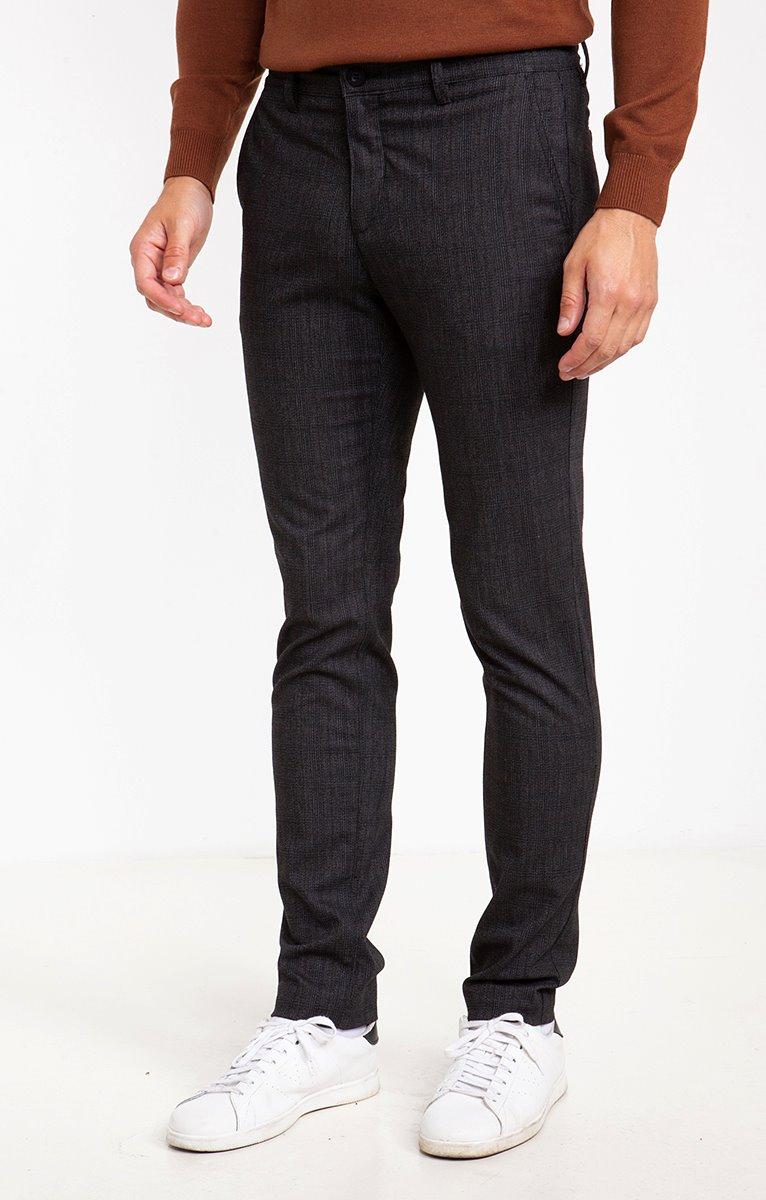 Pantalon chino carreaux Lenny