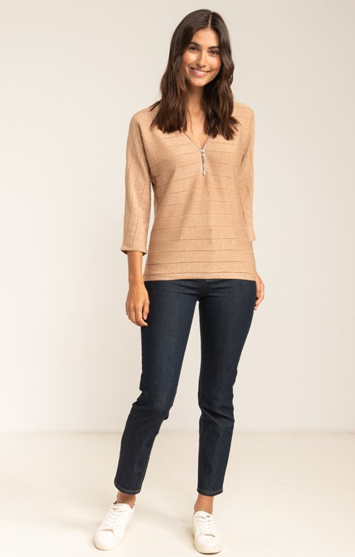 PULL COL V POINT FANTAISIE
