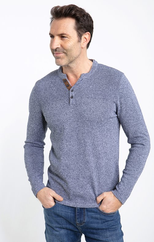 PULL RECYCLE COL TUNISIEN