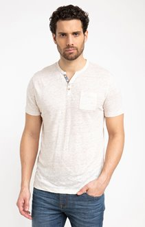 Tee shirt manches courtes lin